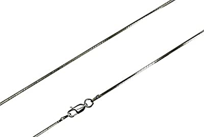 SILBERMOOS Schlangenkette diamantiert 8fach angeschliffen Qualitätskette aus Italien Karabiner-Verschluss 925 Sterling Silber 42 45 50 60 cm, Länge:45 cm