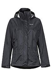Marmot Damen Hardshell Regenjacke, Winddicht, Wasserdicht, Atmungsaktiv Wm's PreCip, Black, L, 46700