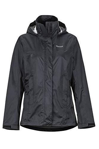 Marmot Damen Wm's PreCip Eco Jacket Hardshell Regenjacke winddicht wasserdicht atmungsaktiv, Black, M