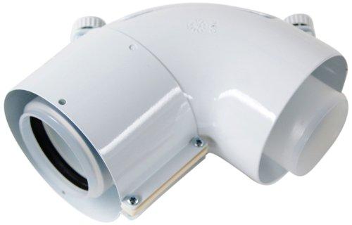 Vaillant 303916 Coude 87 ° 60/100 mm PP avec ouverture de nettoyage