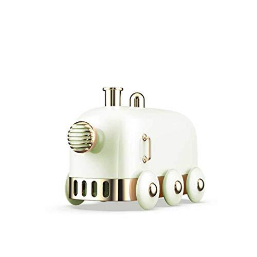 Ultrasone luchtbevochtiger met mist, stille luchtbevochtiger, draagbare luchtbevochtiger met 7 kleuren LED-licht, luchtreiniger met muziek voor de slaapkamer.