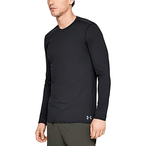 Under Armour Fitted Coldgear Crew Camiseta De Manga Larga, Hombre, Negro (Black/Steel 001), M