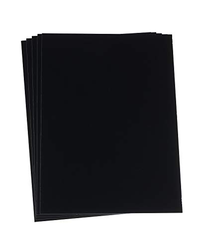 Enkaustik-Malkarten, A4, 5 Stk, schwarz