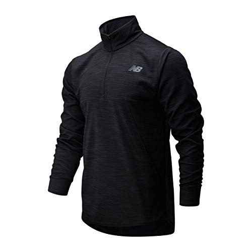 New Balance Herren MT01088 Tunika-Shirt, Black Heather, M Regular