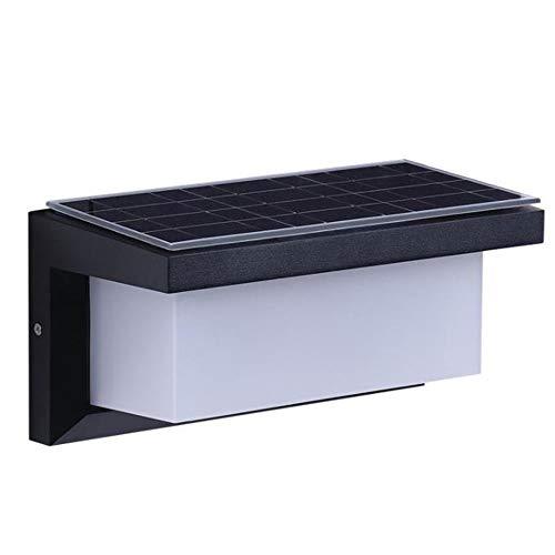 OUYA Exteriores Lámpara De Pared Solar, IP65 con Luz Descendente Sensor Movimiento, Iluminación Pared Seguridad Exterior para Puerta Entrada, Patio Trasero, Escalones, Garaje, Jardín,M