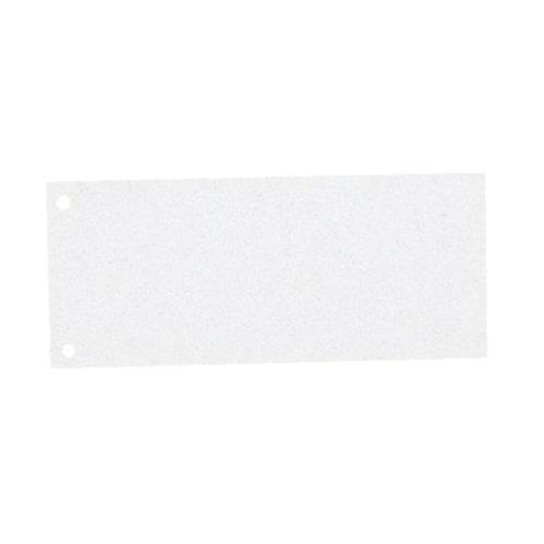 Esselte Trennstreifen aus Karton, 1/3 A4, 100 Stück, Überbreite, Weiß, 100{c1c9b38a3566d65ba08082c5b4bba84347d2a295dcf4177ea30f27b90a8f254f} recyceltes Papier, 20998