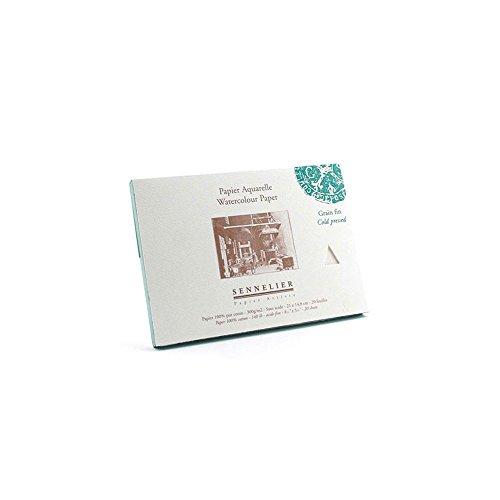 Sennelier - acuarela - prensado en frío - 21 cm x 13,5 cm - 4-bloc de dibujo Vertical