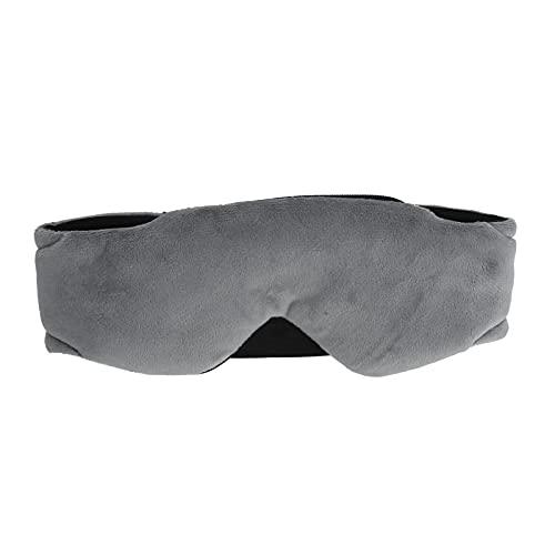 Annadue Máscara de Ojos Musical inalámbrica Bluetooth, Máscara de Ojos Bluetooth para Dormir Auriculares Estéreo Bass Blackout Music Eye Mask para Escuchar Canciones y Llamadas(Gris)