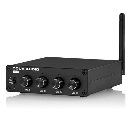 Miniamplificador estéreo Bluetooth 5.0 con 4 vías RCA