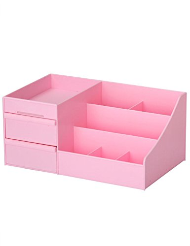 KKCF Tiroir de Style Cosmétique Boîte de Rangement de Bureau Boîte de Finition Boîte de Rangement dépenses familiales (Couleur : B, Taille : L(35.5 * 22 * 16.5CM))