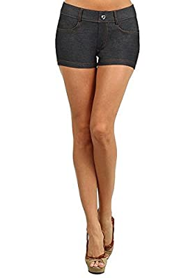 Fashion Mic Womens Casual Summer Cotton Blend Stretchy Shorts