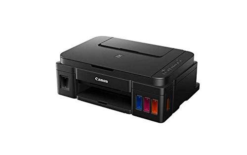 Canon PIXMA G3501 MegaTank Drucker nachfüllbares Tintenstrahl Multifunktionsgerät DIN A4 (Drucken, Scannen, Kopieren, 4.800 x 1.200 dpi, WLAN, USB, große Tintentanks, niedrige Seitenkosten), schwarz