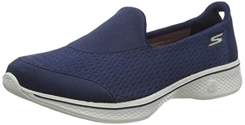 Skechers Skechers Damen Go Walk 4 - Pursuit Ausbilder, Blau (Navy/Grey), 35 EU