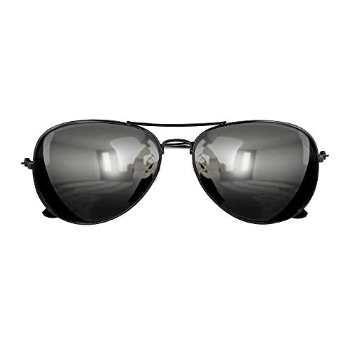 Widmann 6860P - Polizistenbrille, schwarz, verspiegelte Gläser, Polizei, Karneval, Mottoparty