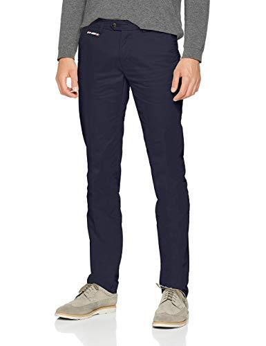 El Ganso Chino Pantalones, Azul (Marino 1), 48 (Tamaño del Fabricante:48) para Hombre