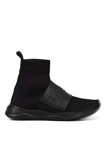 Balmain Luxury Fashion Damen W8FC143PCZS176 Schwarz Stoff Hi Top Sneakers | Jahreszeit Permanent