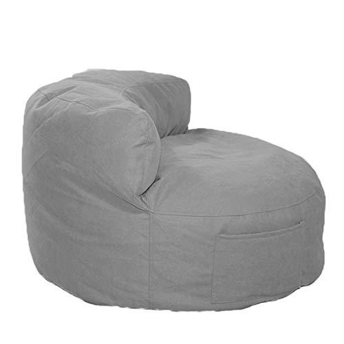 AMGJ Sitzsackbezug ohne Füllung, Carbon Emorized Fabric Sitzsackhülle Sitzsack Bezug für Kinder und Erwachsene 55x85x35cm,Grau