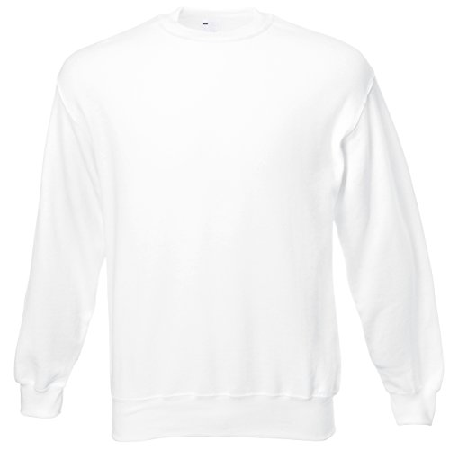 Universal Textiles Mens Jersey Sweater (Large) (Snow)