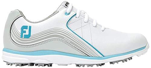 Footjoy Damen Pro S/l Golfschuhe, Weiß (Blanco/Plata/Azul 98103m), 40 EU