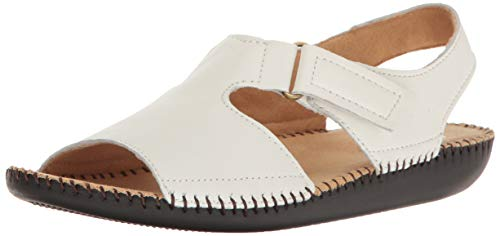 Naturalizer Women's Scout Flat Sandals, White, 8.5