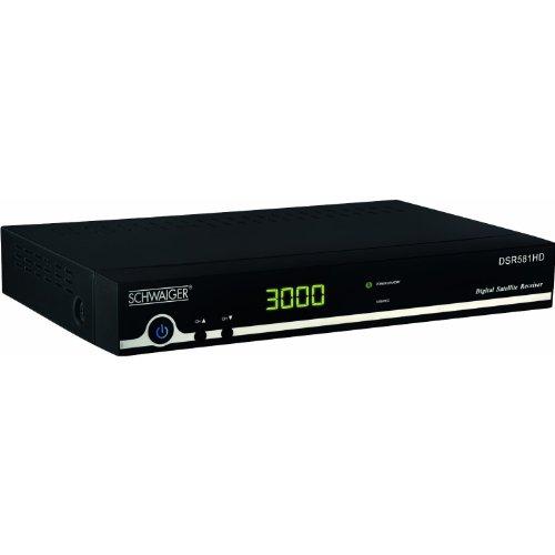 Schwaiger DSR581HD 011 HDTV Satelliten-Receiver (HDMI, SCART, FTA, USB 2.0)