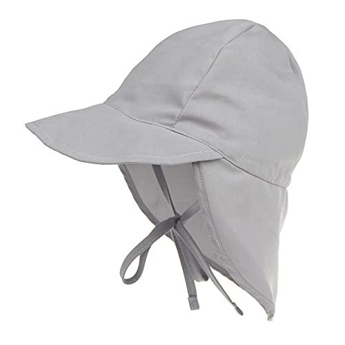 iSunday Unisex bebé multifuncional sombrero plegable niños sombrero de sol niño cubo sombreros con desmontable cuello solapa gris