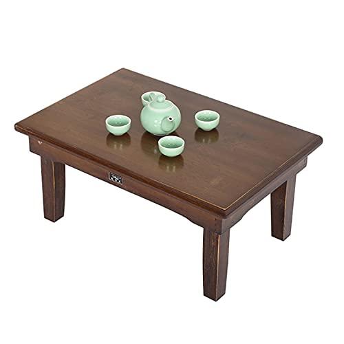 GHHZZQ Escritorio Plegable Bambú Natural Mesa De Centro Portátil Mesa De Cuaderno Plegable por Cuarto Sala De Estar Oficina Dibujo Bandeja De Desayuno (Color : A, Size : 80x60x42cm)