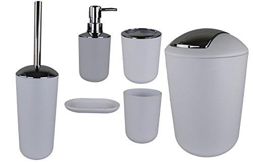 GMMH – Set di 6 accessori da bagno, con dispenser per sapone,...