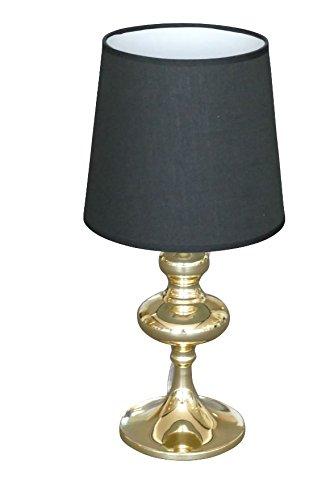 Tischleuchte Leselampe Tischlampe Nachttischlampe gold schwarz