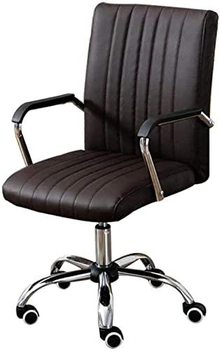 BeingHD Qualitätsbürostuhl, Bürostuhl mit Armlehne Computerstuhl Home Office Chair Meeting Modern Minimalistische Stuhl Personalstuhl Mahjong Sesselliftstuhl (Color : Dark Brown)