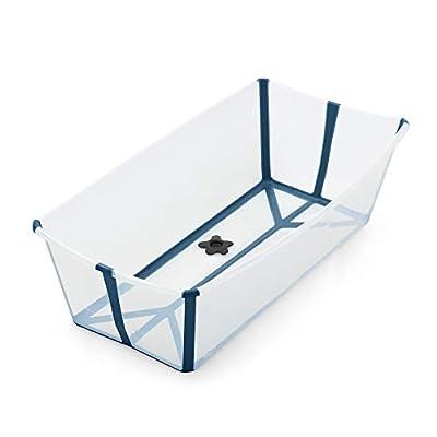 Stokke Flexi Bath Heat Sensitive Plug Baby Bath, X-Large, Transparent Blue