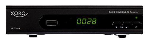 Xoro HRT 7619 Ricevitore Full HD HEVC DVBT/T2, Nero