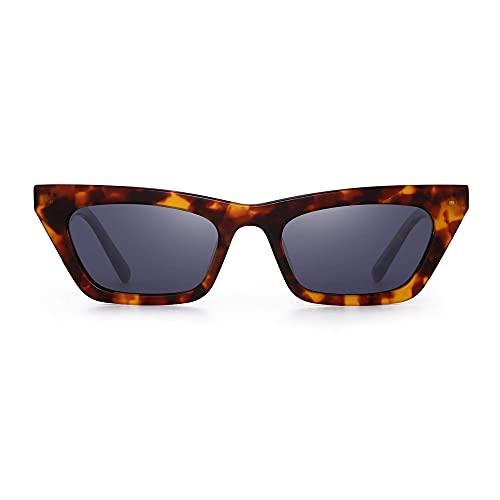 VJSDIUD Gafas de sol de ojo de gato pequeñas para mujer Gafas de ojo de gato cuadradas estrechas polarizadas Gafas de estilo Y2K