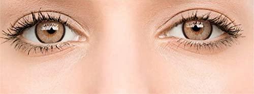 Farbige Kontaktlinsen Ohne Stärke , Weiche Kontaktlinsen mit großen Augenfarben Vergrößern Sie,Augen Frauen Make-up Kosmetische Kontaktlinsen ,großen Augenfarben (Braun)