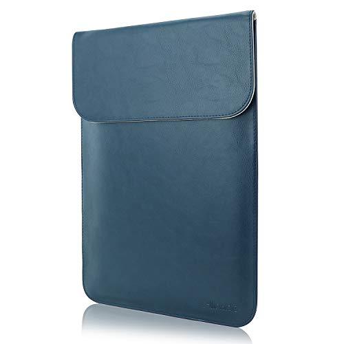 "Allinside Funda de Cuero Sintético para portátiles de MacBook Air 13"" 2018-2020 (A2337 M1 A1932 A2179)/ MacBook Pro 13"" 2016-2020 (A2338 M1 A2251 A2289 A2159 A1989 A1706 A1708), Azul"