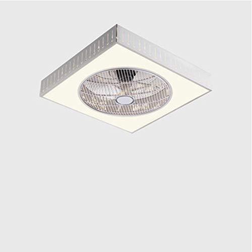 Hubling plafondventilator, modern, met verlichting, afstandsbediening, dimbaar, led-plafondlamp, stil, onzichtbaar, plafondventilator, woonkamerlamp, plafondlamp, kinderkamer, wit