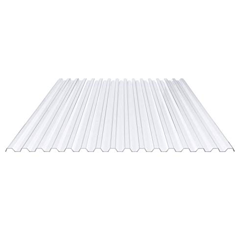 Lichtplatte | Spundwandplatte | Profil 70/18 | Material PVC | Breite 1095 mm | Stärke 1,0 mm | Farbe Klarbläulich