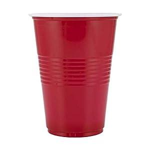 Online Party Shop (Set of 15) Beer Pong Glass| Red Drinking Cup | Drinking glass for party |Party Glasses – Red Color (16 OZ Volume)