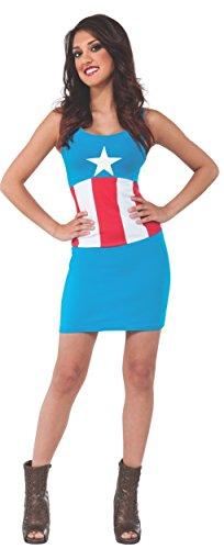 Rubie's Women's Marvel Universe Adult American Dream Tank Dress, Multi, Small