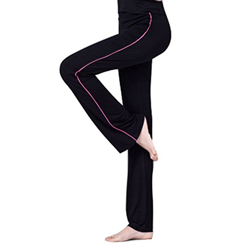Juleya Damen Jogginghose Yogahose High Waist Schlaghose Freizeithose Mit Seitenstreifen Elastic Weich Fitnesshose Laufenhose