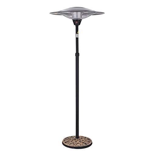 LDM Calentador eléctrico para Patio Calentador de pie infrarrojo Ajustable para Exteriores/Interiores de 3 Archivos 300 W Resistente al Agua y al Polvo-A