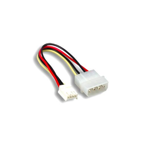 """Kentek 6 Inch 6"""" 4 Pin Molex 5.25 Male to 4 Pin 3.5 Floppy Drive FDD Female M/F IDE DC Internal Computer PC Power Cable Adapter Cord"""