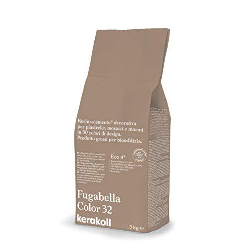 KERAKOLL FUGABELLA COLOR - 32 Sacco da 3 kg di stucco resina cemento decorativa per fughe
