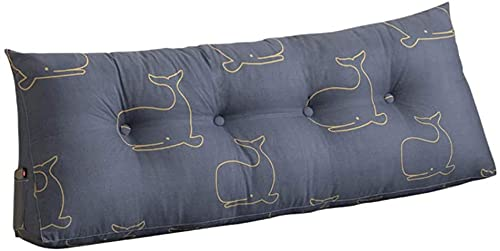 TGFVGHB Cojín de cuña para respaldo de cama, oficina, cojín lumbar triangular, respaldo, sofá cama, cojín triangular, grande, tres (color: A-120 × 50 × 20 cm)