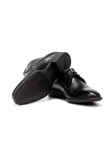 Fluchos   Vestir de Hombre   Luke F1056 Habana Negro Zapato de Vestir   Vestir de Piel   Cierre con Cordones   Piso TR
