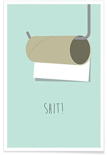 """JUNIQE® Lustig Poster 20x30cm - Design """"Shit"""" entworfen von Trabolt Design"""