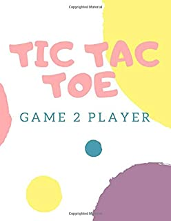 "TIC TAC TOE GAME 2 PLAYER: board Game Book for Kids and Adults Cover : Soft Cover (Matte) Size : 8.5"" x 11"" Interior: 150 pages with Blank 12 Games per Pages (1800 Games)."