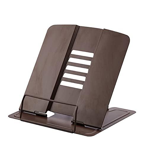 yonghe Estantería para documentos, soporte para tableta, soporte para libros de lectura, soporte para placas de acero, regalos para Navidad, cumpleaños (color café)