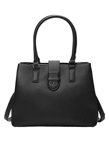 s.Oliver Damen Shopper in Leder-Optik black 1