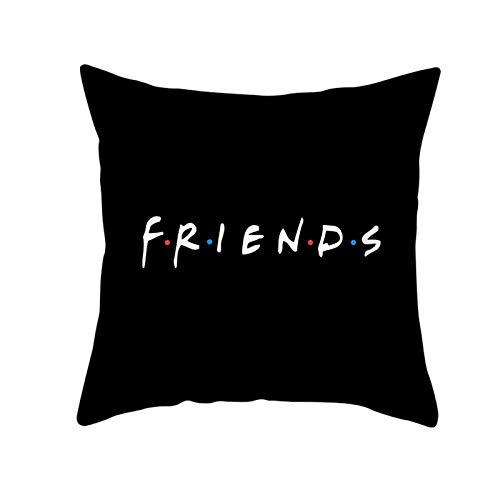 Peach skin pillowcase new black letter series square sofa pillowcase 45CM*45CM